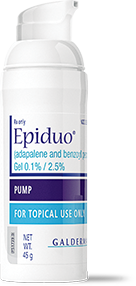 Epiduo gel is an antibiotic-free, topical acne treatment that combines two hardworking medicines to help clear up the acne breakouts. Whether you're a long-term user or if you're trying for the first time, be sure to take advantage of Epiduo discounts available to you.
