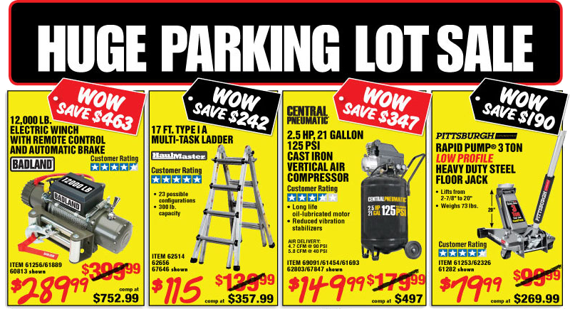 Harbor freight tools super coupons