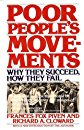Poor People's Movements: Why They Succeed, How They Fail [Paperback]